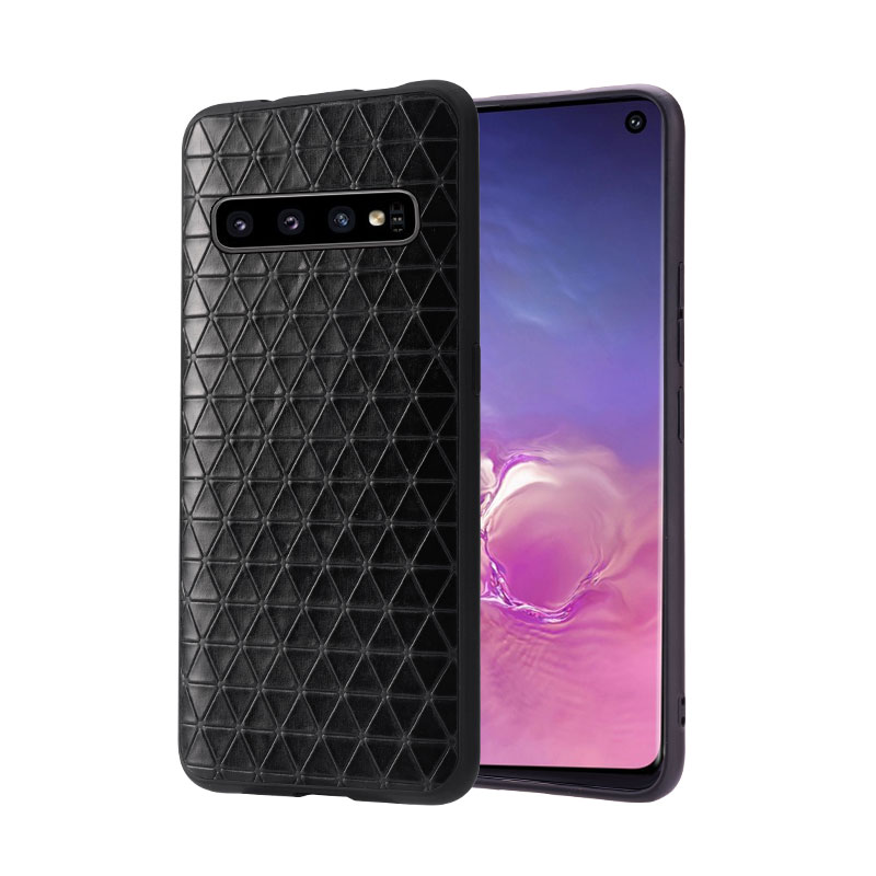 For Samsung Galaxy S10 Galaxy S10 Plus Galaxy S10E Phone Case Fitted Leather Case Men Women Business Leather Geometric Pattern