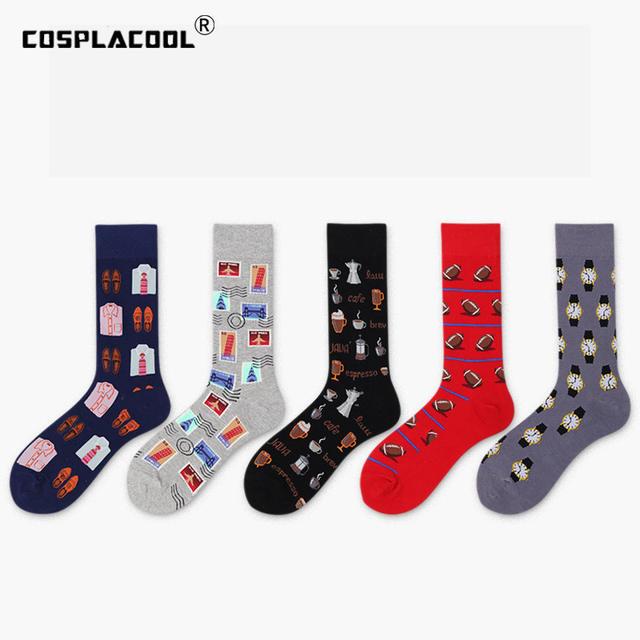 Japanese Creative Street Art Harajuku Men Socks Business Skateboard Hip Hop Socks Novelty Sokken Unisex Size Calcetines Hombre