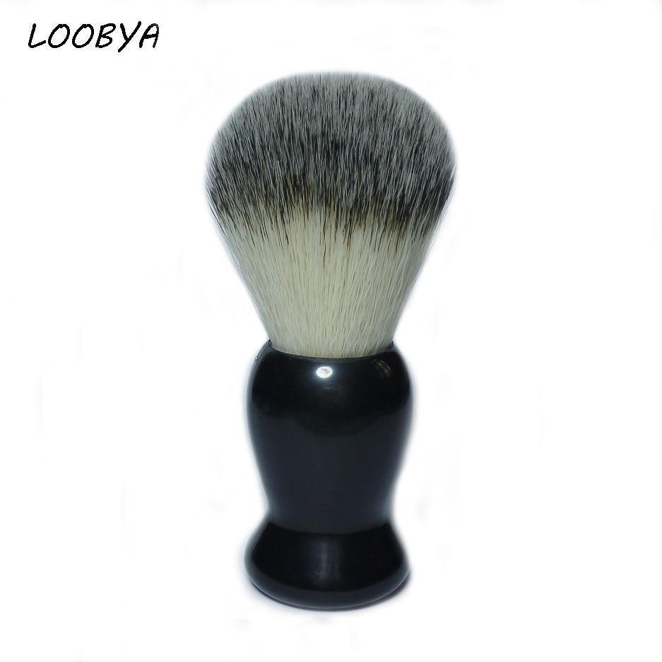 Professional Shaving Brush Barber Salon Shave Tool for Mens Face Beard Black Handle