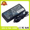 Подлинная ноутбук зарядное устройство 20 В 6.75A для lenovo ADL135NDC3A 4X20E50558 4X20E50559 36200314 36200318 4X20E50560 ультра тонкий адаптер переменного тока