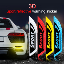 3D Car Reflective Strip Anti-collision Warning Sticker Safety Mark Scratch-proof Tape Warning Tape For Bus Motorcycle Bike Pram speedwow 46m 1cm car reflective tape sticker auto motorcycle bike luminous strip whole body decoration safety warning stickers