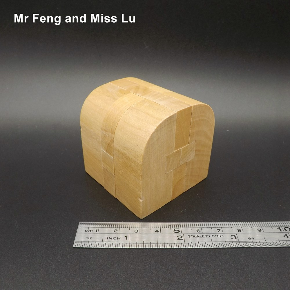 House Kong Ming Lock Toys, Natural Wooden Blocks Games Improve Divergent Thinking plywood