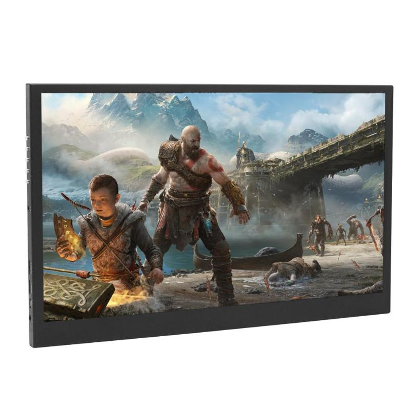 ALLOYSED 13.3 Inch HDR Portable Monitor 1920x1080P HD HDMI Tpye-C IPS Screen Display For PS3 PS4 XBOX One Game Console Laptop PC alloyseed 15 6 inch ultra thin 1080p hdmi game display monitor screen for ps4 xboxone switch game console