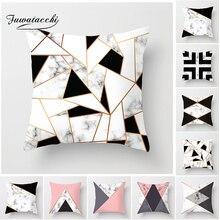 Fuwatacchi Geometry Cushion Cover Striped Triangle Printed Cover Diamond Pillowcases Decor Home Sofa Black Pillow Covers Soft недорго, оригинальная цена
