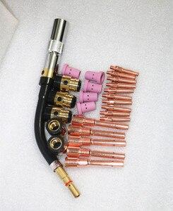 CO2 Mig Mag soudeur torche de soudage Panasonic KR500A col de cygne porte-embout de contact buse à gaz M6 * 45 MM