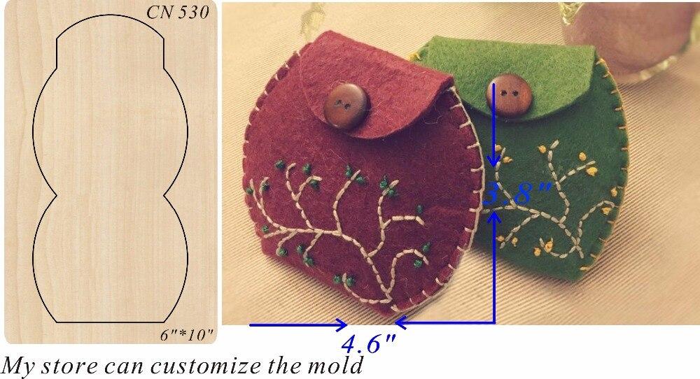 ハンドメイド財布新しい木製金型切削ダイススクラップブッキング用 Thickness 15.8mm  グループ上の ホーム&ガーデン からの 抜き型 の中 1