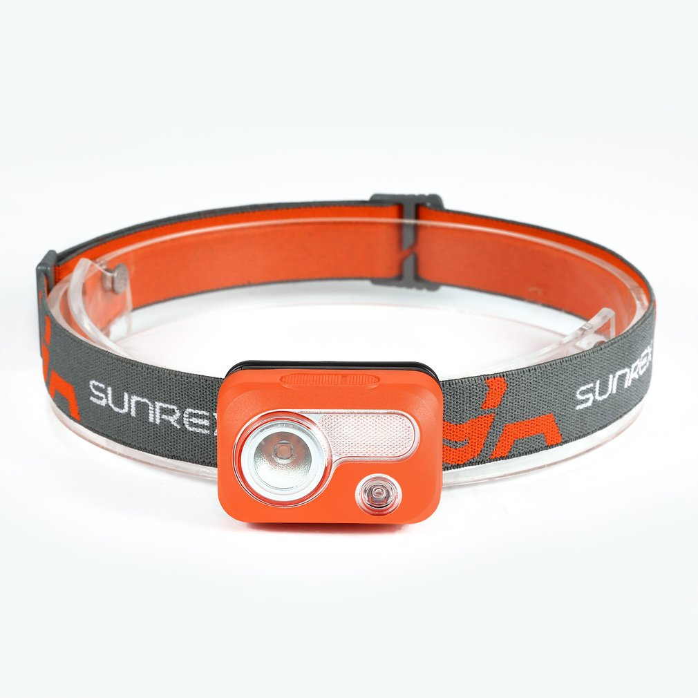 SUNREI Waterproof IPX7 Hiking Camping LED Headlamp Portable Outdoor SOS Light with 6 Lighting Modes Ultra Bright Flashlight Hot