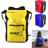 25L Folding Waterproof Swimming Backpack Dry Bags Bucket Outdoor Rafting Kayaking Canoeing Swimming Trekking Diving Backpack Bag