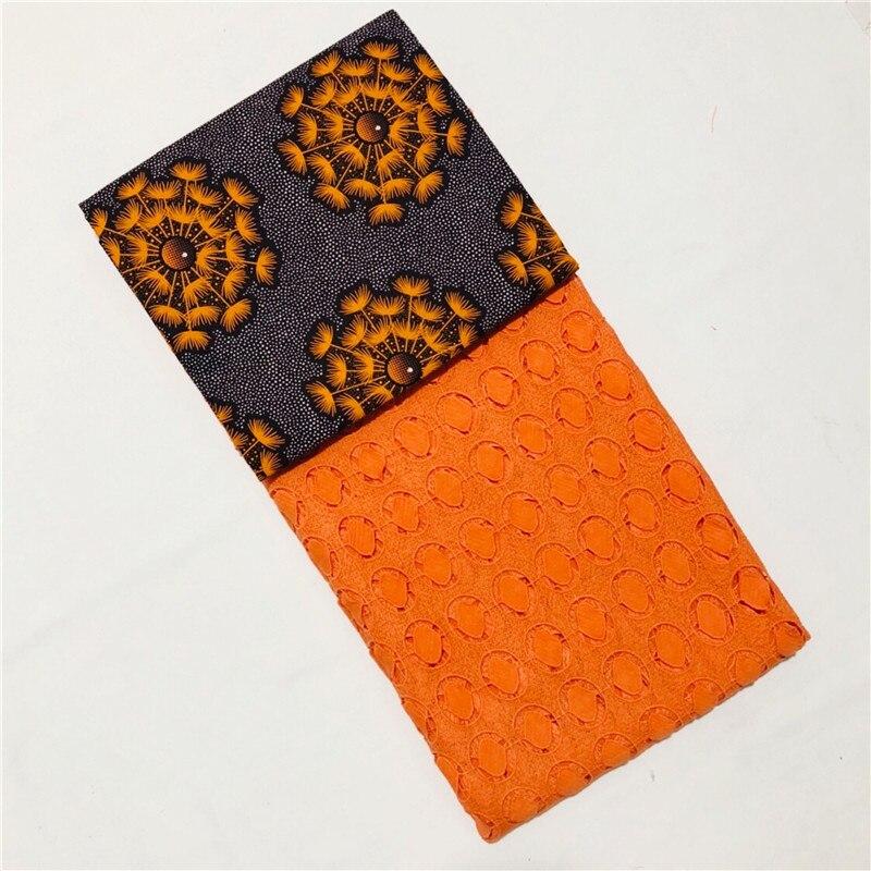 Beautifical Tecido cera java Africano da tela Do Laço Suíço 2018 Algodão Seco Material de Laço Suíço para o vestido de Alta Qualidade 3 + 2.5 quintal XM03