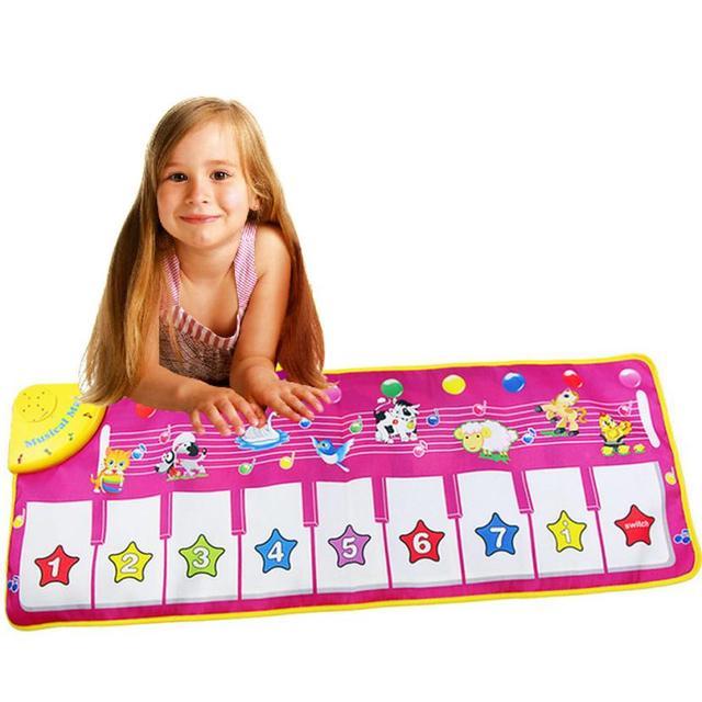 Novo Teclado Musical Música Toque em Reproduzir Cantando Ginásio Carpet Mat Melhor Caçoa o Presente Do Bebê esteira do jogo Música para as crianças do bebê