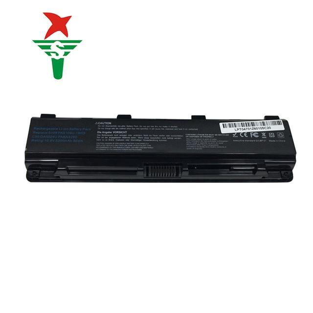 6 Ячеек 5200 мАч Аккумулятор для Ноутбука Toshiba Satellite C50T C55 C70 C75D PA5109U-1BRS PA5108U-1BRS PA5110U-1BRS PABAS271 PABAS272