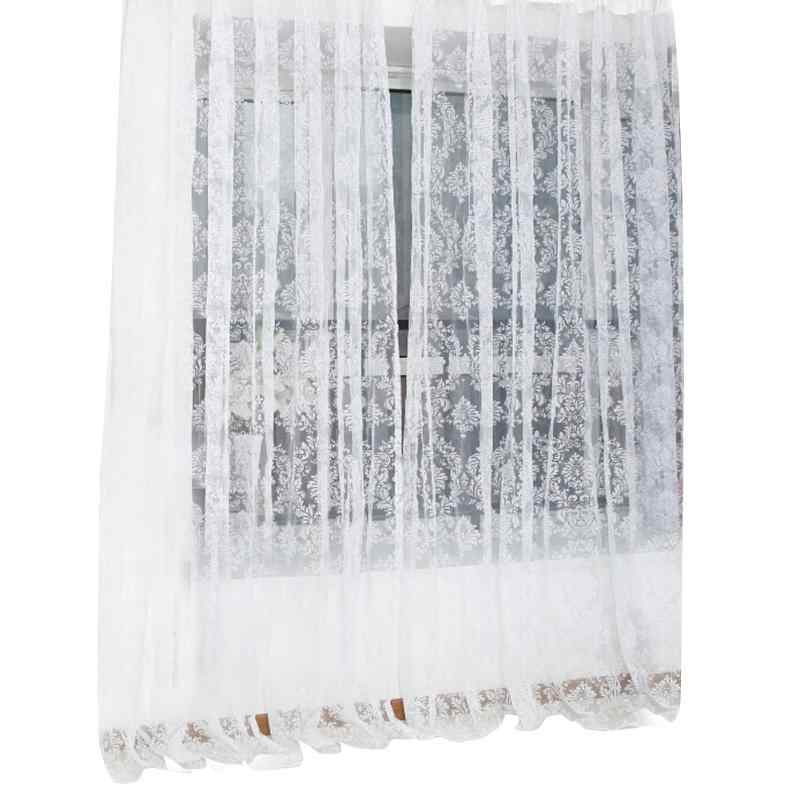 Voile Curtain Noble Window Screens Tulle Bronzing Flower Door Tulle Curtains Window Curtains Modern Living Room Curtains