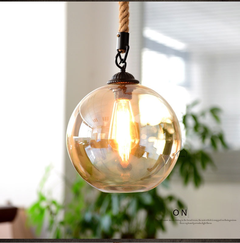 pendant lighting with rope # 81