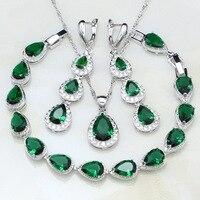 Water-Drop-Green-Emerald-White-Topaz-Women-925-Sterling-Silver-Jewelry-Sets-Wedding-Earrings-Pendant-Necklace.jpg_200x200