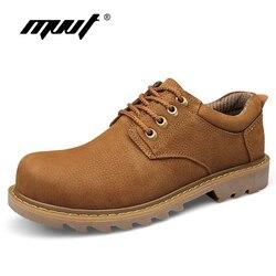 Botas de couro genuíno artesanal botas de trabalho botas de trabalho clássico botas de tornozelo nubuck botas de inverno