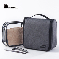 BAGSMALL 2pcs Set Men Hanging Toiletry Bag Women Cosmetic Bags For Make Up Case Travel Accessories