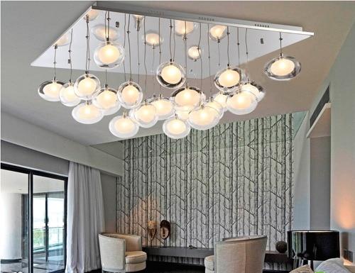 Современный краткое гусиные яйца двойной белый цвет стеклянный шар потолочный светильник для гостиная спальня лампа 80*80 см