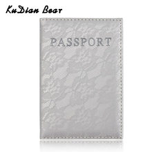 KUDIAN BEAR Travel Passport Cover PU Leather Passport Holder Purse Fashion Women Travel Wallet Porta Passaporte BIY035 PM49(China)
