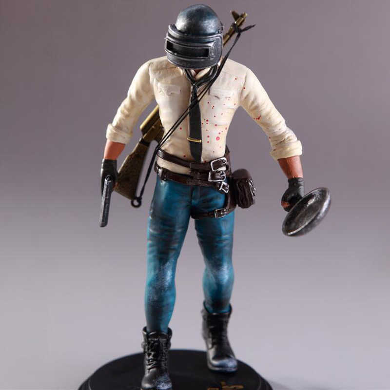 17 cm Playerunknowns Battlegrounds PUBG anime boneca figura nendoroid local para comer frango hoje à noite campos de batalha toy action figure