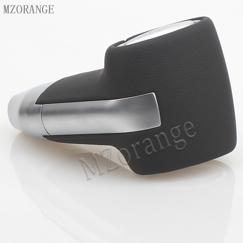 MZORANGE 1 PCS Gear Shift Knob New Automatic Transmission Leather Chrome For Toyota Camry for Rav4 for Corolla Ex Gear Head CAR in Gear Shift Knob from Automobiles Motorcycles