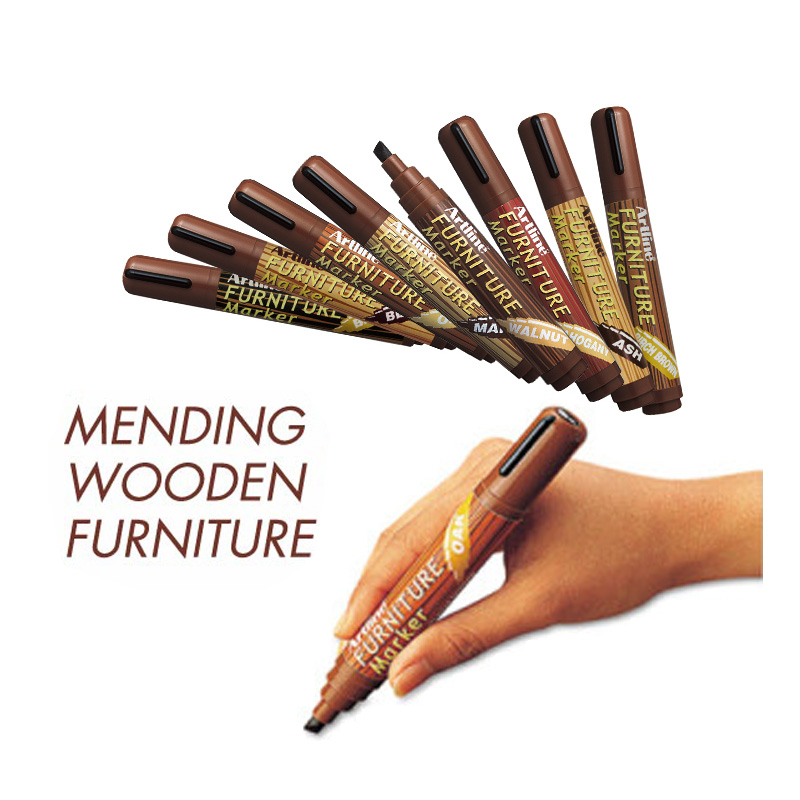 kemila 8 Colors 2-5mm Wooden Floor Tables Chairs Remover Scratch Repair Paint Pen Furniture Markers For Mending paint-mending pack of 10 furniture chest drawer bottom sagging repair fix mend mending wedges