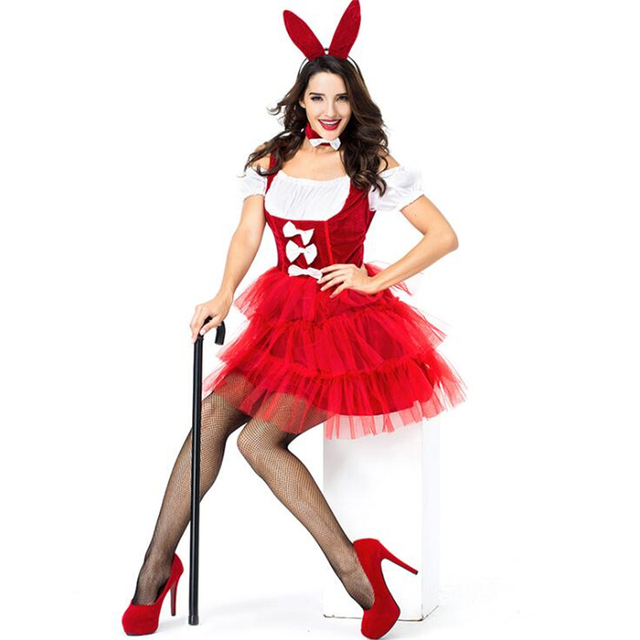 US $27 53  Adult Sexy Womens Fanciest Dapper Tuxedo Style Bunny Club Wear  Halloween Costume-in Movie & TV costumes from Novelty & Special Use on