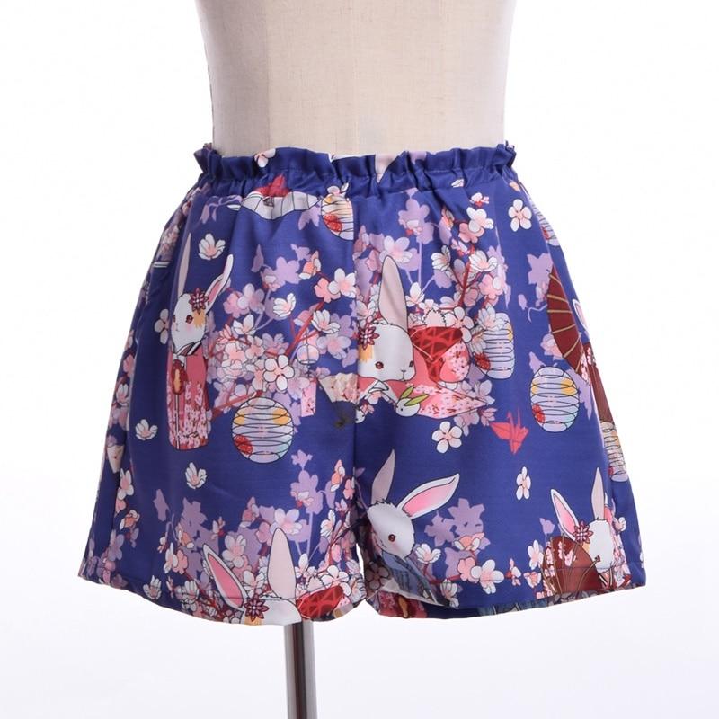 Kvinnor Japansk stil Harajuku Shorts Onegai Usagi Bönkanin Print - Damkläder - Foto 6