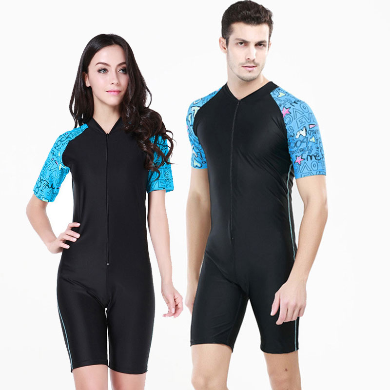 1fcf8dcdea2 One piece Jumpsuit 2017 Sports Skins Rash Guard Valentine s Day Gifts  Skinny Lycra Skins Couple Suits Wetsuit Short Sleeve and-in Wetsuit from  Sports ...