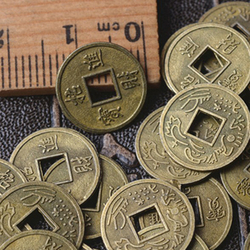 100Pcs Chinese Feng Shui Lucky Ching/Ancient Coins Set Educational Ten Emperors Antique Fortune Money Coin Luck Fortune Wealth