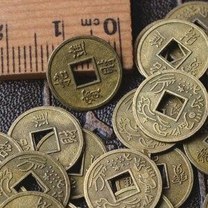 Image 1 - 100Pcs Chinesischen Feng Shui Glück Ching/Alte Münzen Set Pädagogisches Zehn Kaiser Antike Vermögen Geld Münze Glück Glück reichtum