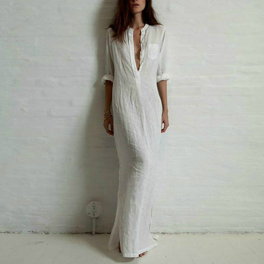 Summer Linen Long Dress