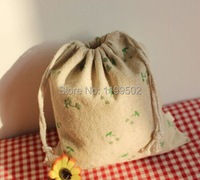 High quality Patterned jute/linen bags for iphone\accessories\mobileHDD\gift\jewelry packaging bags\pouch customize wholesale