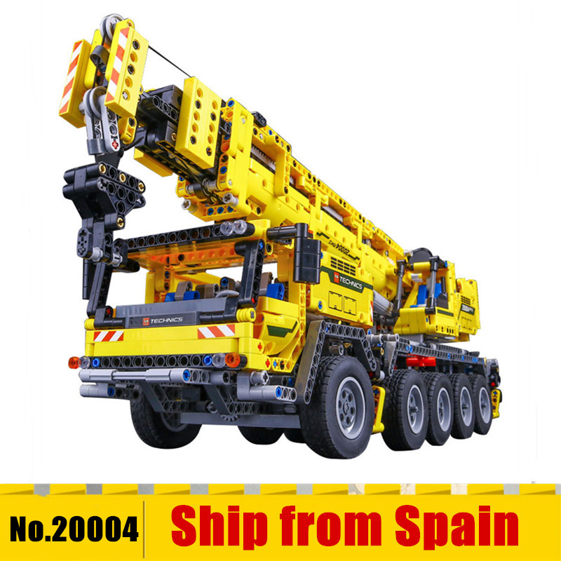 20004 Technic Series Motor Power Mobile Crane Mk II Car Model Building Kits Blocks Bricks Compatible With 42009 Gifts