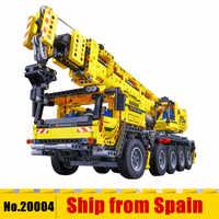 20004 Technic series Motor Power Mobile Crane Mk II Car Model Building Kits Blocks Bricks Compatible With 42009 gifts