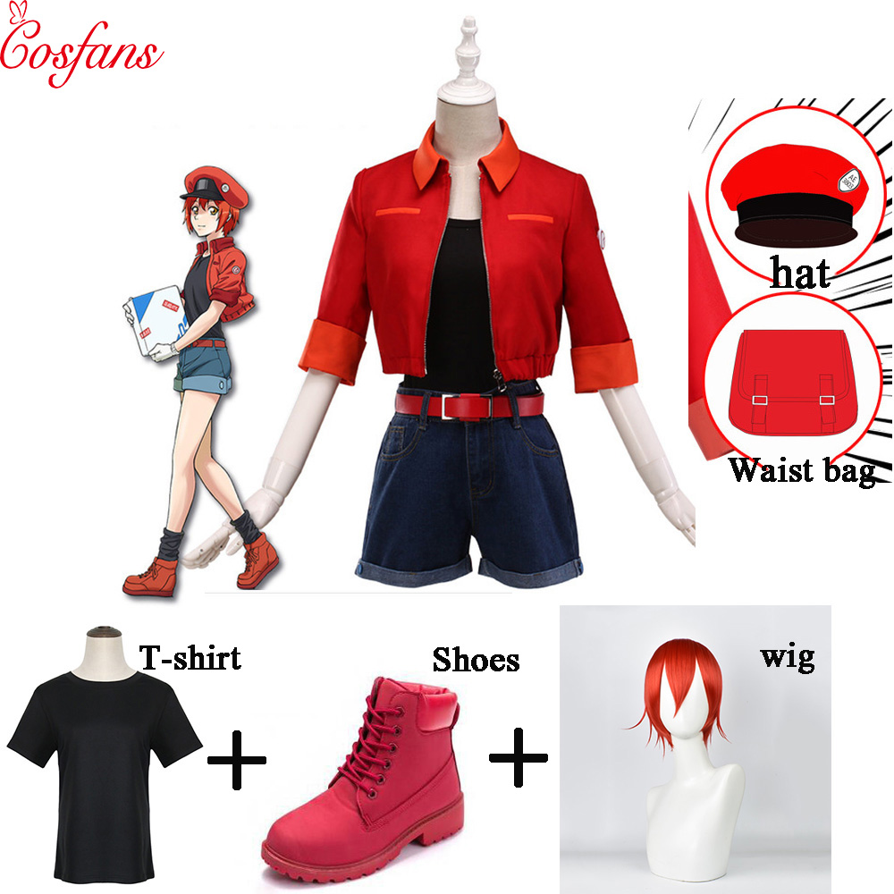 Cells at Work!  Red Blood Cell(RBC Anime  Women Cosplay Costume Halloween