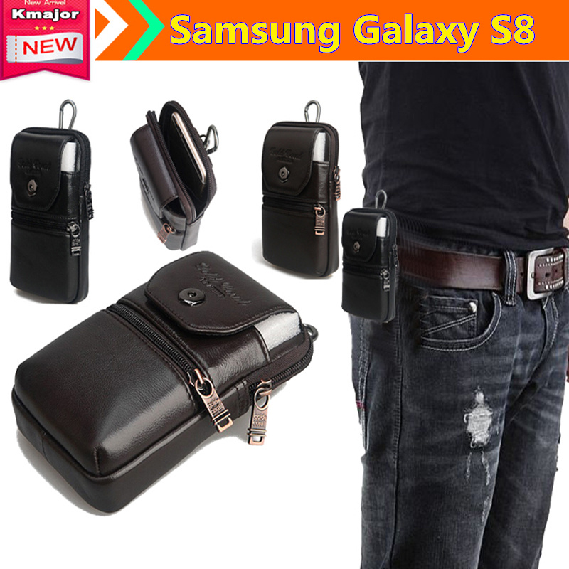 Genuine Leather Carry Belt Clip Pouch Waist Purse Case Cover for Samsung font b Galaxy b