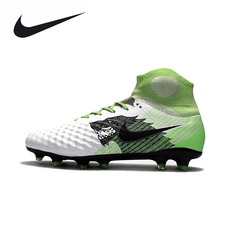 fadb2ed643a Magista obra II FG Sneakers Soccer Shoes Outdoor Lawn High Quality Men  Football Shoes 844595-414 39-45