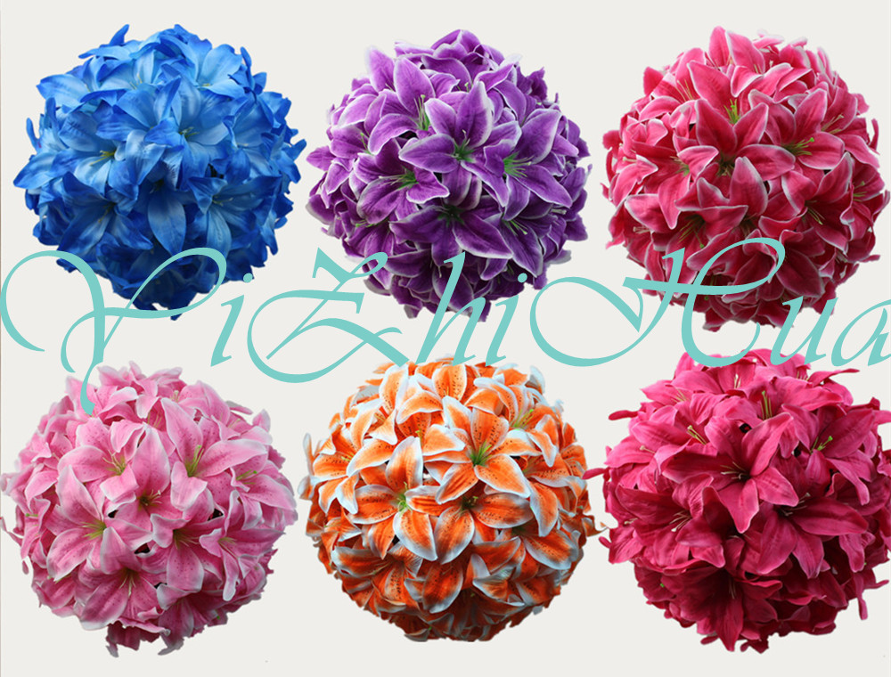 2017 new wedding decorations artificial lily silk flower for Artificial flowers decoration ideas