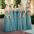 2017 A-line Bridesmaid Dresses Sweetheart Sleeveless Zipper Floor Length Chiffon Bridesmaids Dress 2017 Wedding Party Gowns