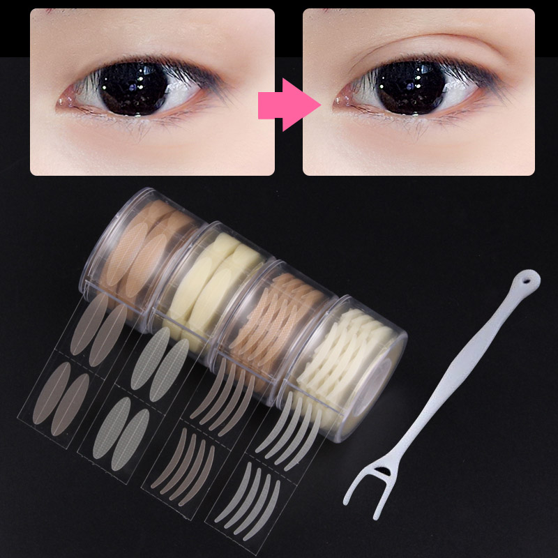 600Pcs/box Big Eyes Make Up Eyelid Sticker Double Fold Self Adhesive Eyelid Paste Invisible Eyelid Tapes Eyelid Stickers Tool