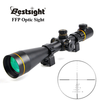 Bestsight 5 15X50 FFP Golden Optics Riflescope Side Parallax Tactical Hunting Scopes Rifle Scope Mounts For Airsoft Sniper Rifle