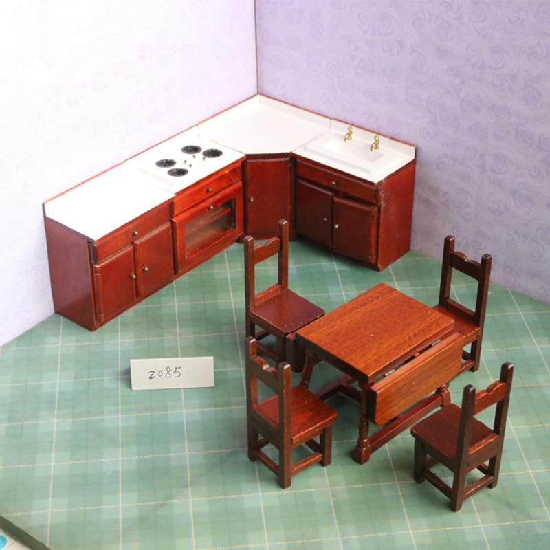 1:12 dollhouse meubles jouets pour poupées miniature en bois chaise table des ustensiles de cuisine jeux de simulation jouet pour filles enfants enfants cadeaux