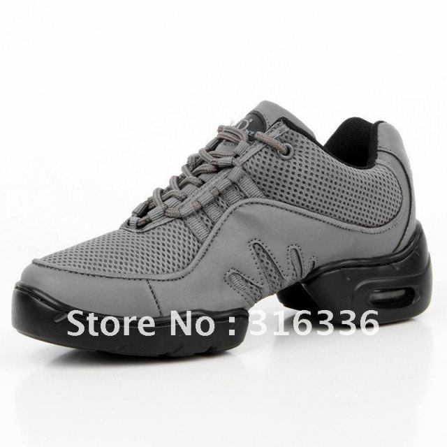 Gas outsole Imports of high-grade PU + mesh + bottom dance shoes sneaker shoes  ,L0913 ,free shipping