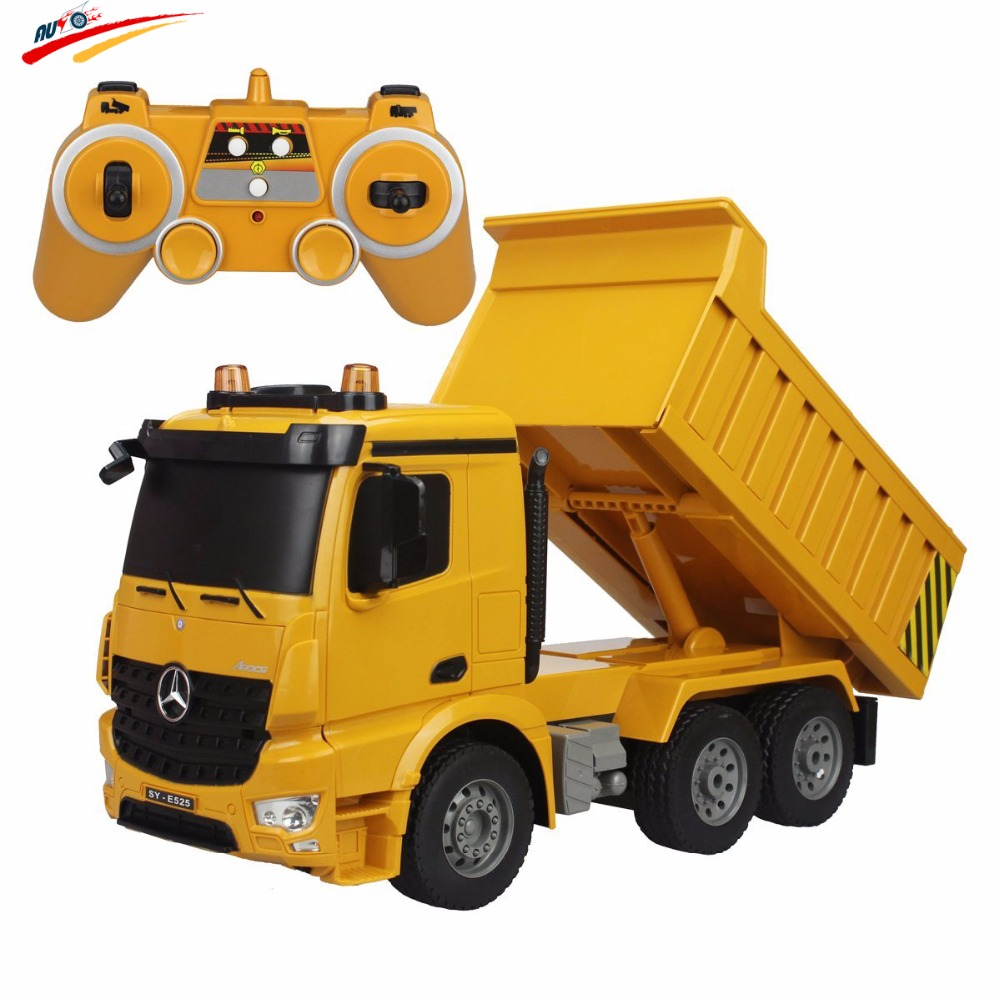 RC Truck 2.4G Dump Truck Brand Radio Control Engineer Machine 6 CH 4WD High Power Demo Function with LED Lights and Sound Model custom sla 3d printing prototype provide rapid prototyping service 3d printing service