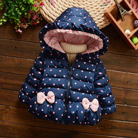 Autumn Winter Hooded Jackets Overalls For Newborn Girl Fashion Warm Clothing Outerwear Toddler Baby Down Coats Cotton Clothes