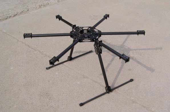Free Shipping 3K Full Carbon Fiber Frame Kit for 800mm 6-Axle Rotor/Copter/Hexacopter / Multicopter цена