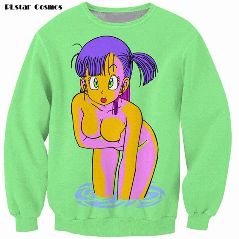 PLstar Cosmos Bulma 3D Print Sweatshirt vibrant jumper animated Dragon Ball Z Characters Cartoon Sweats Women Men Outfits Hoodie