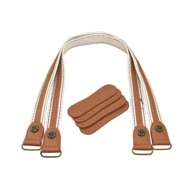 2pcs Leather Bag Handles Leather Fabric Shoulder Bag Strap DIY Handbag Belt Durable Handle for Women Girl Handbags Accessories in Bag Parts Accessories from Luggage Bags