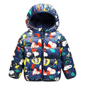 2016 autumn and winter children's cartoon hooded down jacket thick down jacket small children, boys and girls down jacket