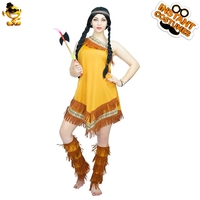 DSPLAY Sexy Indian Princess Woman Roleplay Party Costume Carnival Cute Lady Outfits New Style American Native Fancy Dress
